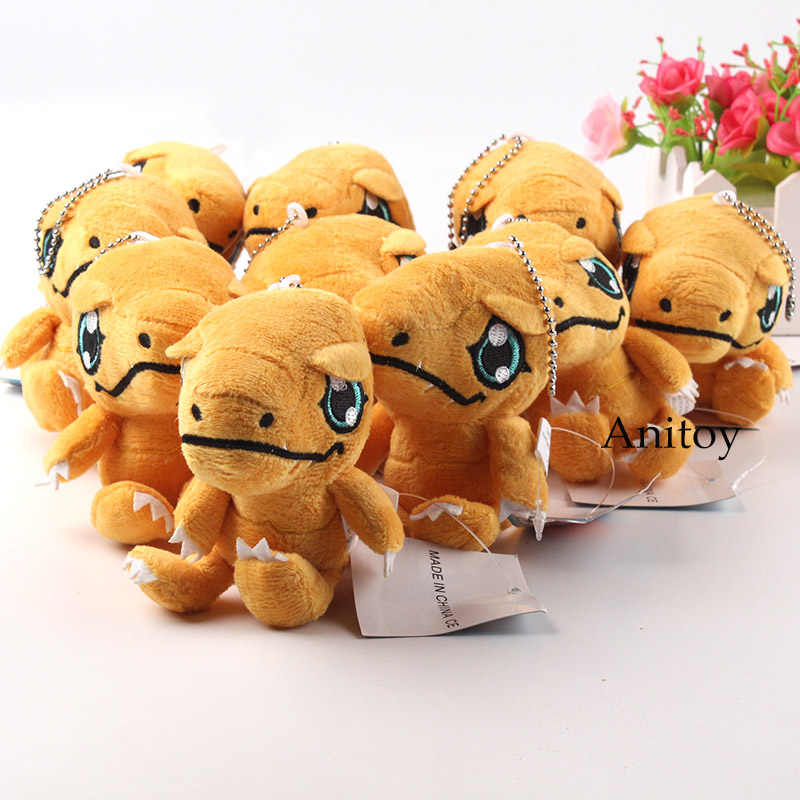 Monster Digital Digimon Adventure Giocattoli di Peluche Digimon Palmon Agumon Gabumon Peluche Pendenti con gemme e perle Morbida Bambola di Pezza 10 pz/lotto