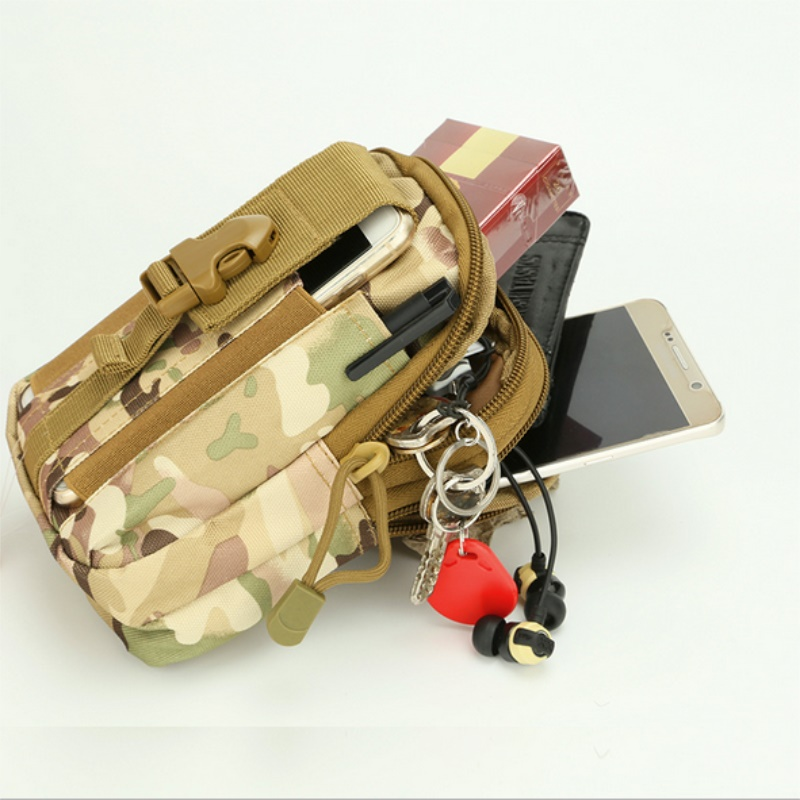50 PCS DHL Free Shipping All Mobile Phone Bag Holster Military Waist Belt Bag Wallet Pouch Purse With Zipper