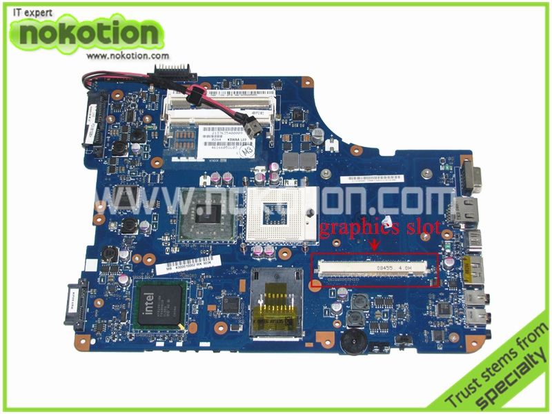 LA-4981P K000010002 Laptop Motherboard for Toshiba A500 L500 L505 Intel KSWAA Intel PM45 DDR2 with graphics slot Mainboard k000078990 motherboard for toshiba satellite l550 l555 la 4981p kswaa use ddr2 ram tested good