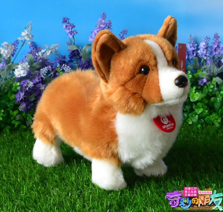 Welsh Corgi Doll  Plush Dogs  Kids Toys  Cute  Corgi  Simulation Stuffed Animals  Children'S Educational Toy Gift  цена и фото