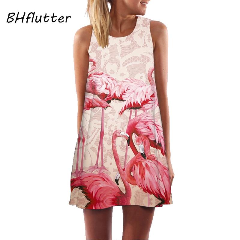 Women Floral  Sundress Casual Dress Print Chiffon Dress Sleeveless  3