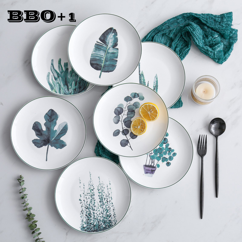 Christmas Plates.Us 43 44 50 Off 4pcs Porcelain Dinner Sets Christmas Dinnerware Handmade Ceramic Dish Plate Cake Pastry Fruit Dessert Decorating Plate In Dishes
