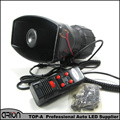 DC12V 5 Tone Car electronic Warning siren Alarm Police Firemen Ambulance car Loudspeaker with MIC
