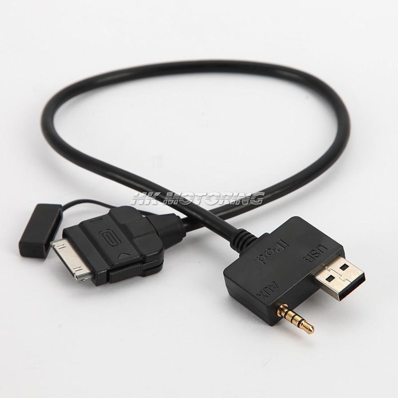 USB Aux Audio Câble Adaptateur 355mm Pour Hyundai-Accent Sonate KIA iPhone/iPod 4 5
