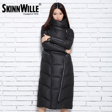 SKINNWILLE 2016 winter collection Long down jacket More women straight down jacket