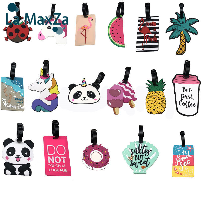 PVC Tag For Suitcase Etiquette Bagage Soft Rubber Luggage Brand For Travel Akcesoria Podrozne Kofferlabel Travel Accessories