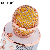 DOITOP WS858 Wireless Bluetooth Condenser Microphone Magic Karaoke Microfone Mobile Phone Player MIC BT Speaker Record