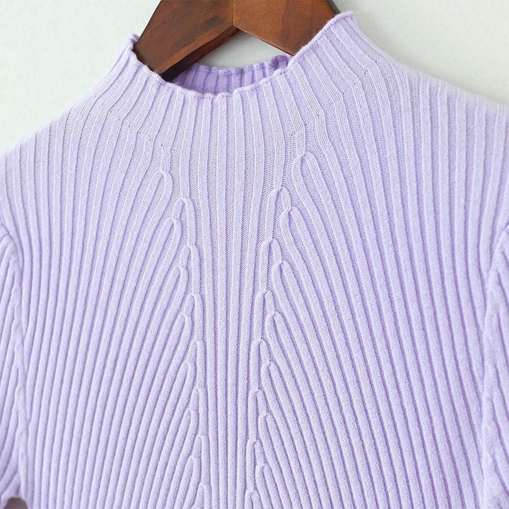 Hochwertige Kaschmir Winter Pullover Pullover mit hohem Kragen - Damenbekleidung - Foto 3