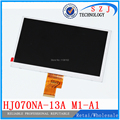 Original 7 ''pulgadas tablet pc HJ070NA-13A M1-A1 para A500 A100, 1024*600 LVDS pantalla lcd display panel Envío libre