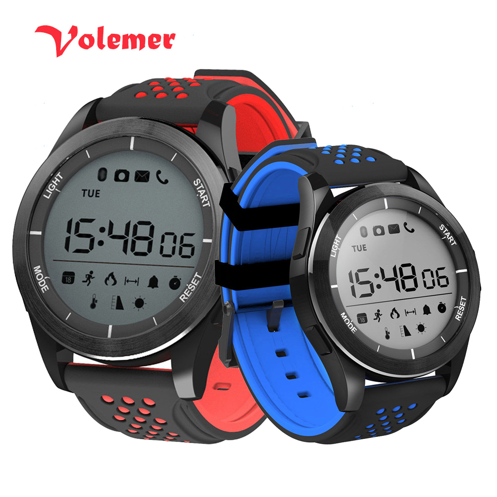 100% Original F3 Luminous Smart Watch Altitude Meter Barometer Mileage IP68 Waterproof Pedometer Smartwatch for IOS Android