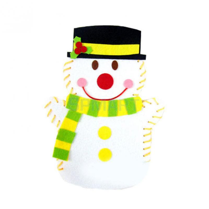 Kids Children Nonwoven Snow Man Hand Puppet DIY Toys Christmas Gifts