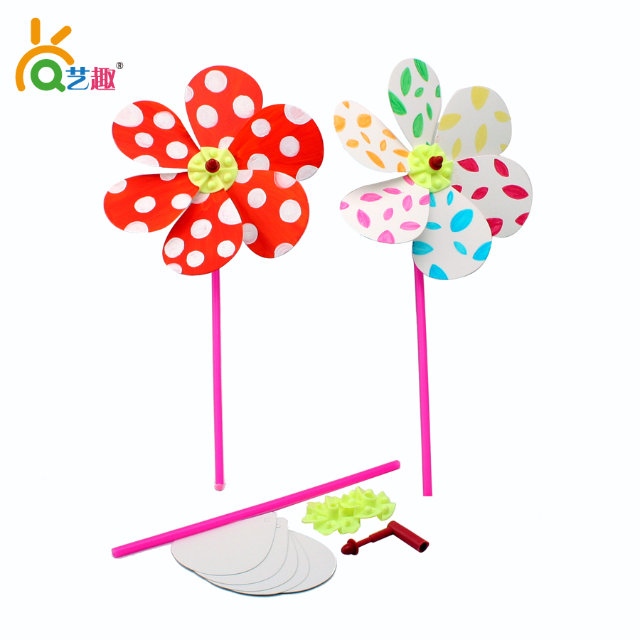 8 pcs kids child diy handmade windmill drawing toys big size 2138cm children drawing paper set educational toys free shipping in drawing toys from toys