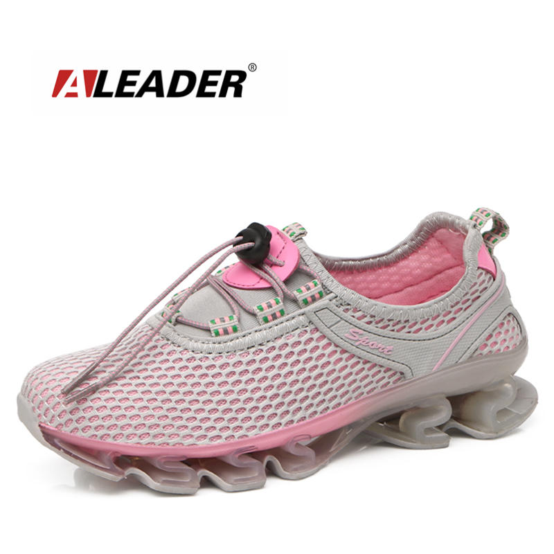 Aleader 2017 Spring New Style Walking Shoes Women Breathable Flats Outdoor Cushion Zapatos Casual Zapatillas deportivas Shoes hot new 2016 fashion high heeled women casual shoes breathable air mesh outdoor walking sport woman shoes zapatillas mujer 35 40
