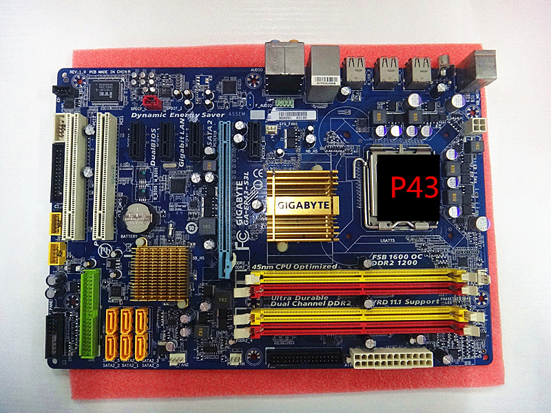 P43 Motherboard  Original Used for Gigabyte GA-EP43-S3L LGA 775 DDR2 (Instead of GA-EP43-UD3L DS3L ES3G US3L S3L) btx l i946f motherboard s2000i s3041i a6800c instead of 945 915