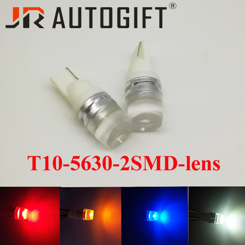 Black Car Turn Led Light,2pcs led Car T10 2smd 5630 5730 Lens High power W5W white super bright