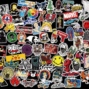 100 piezas y rollo Hip Hop Punk Banda de Música niños etiqueta para  teléfono portátil monopatín 2c9efa7d94c