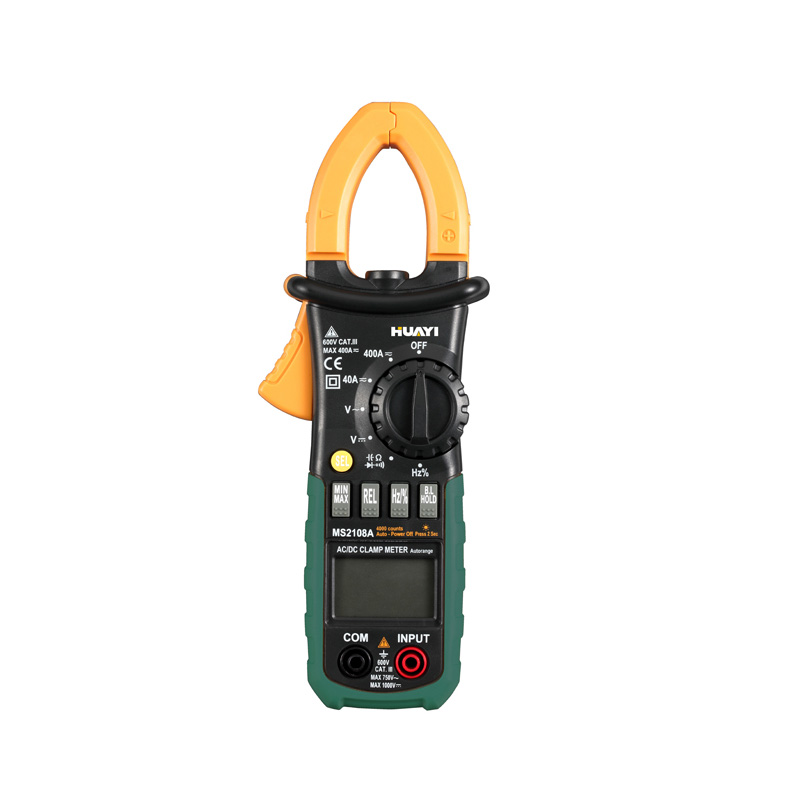 HuaYi MS2108A Digital Clamp Meters Current Clamp Pincers AC/DC Current Voltage Capacitor Resistance Testers Multimeters от Aliexpress INT
