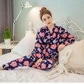 Японская Вишня Милый Кролик Пижамы Набор Кимоно Костюм Спортивный Костюм Хлопок Марли Халат Топ Брюки Женщины Пижамы