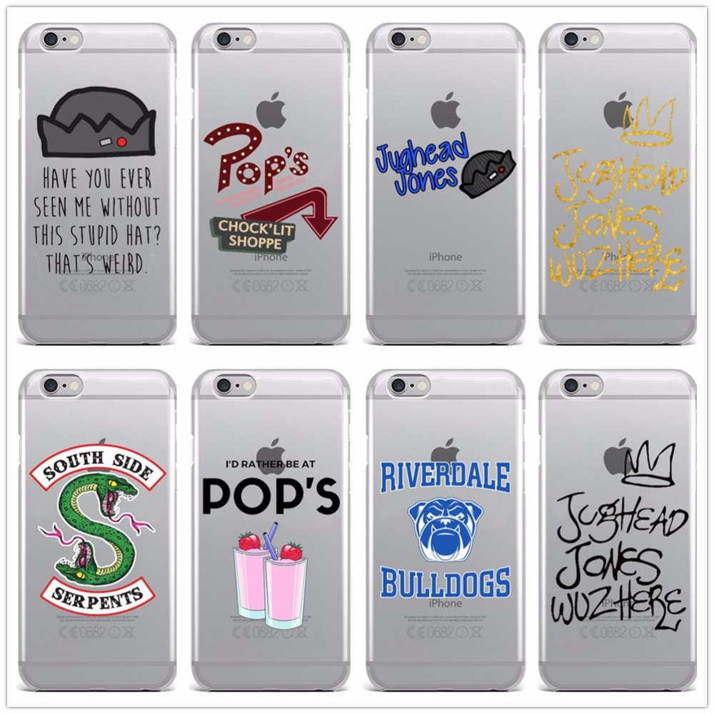 hot tv riverdale soft clear tpu phone case for iphone x 8 7 6 6s plus se 5 5s silicone phone. Black Bedroom Furniture Sets. Home Design Ideas