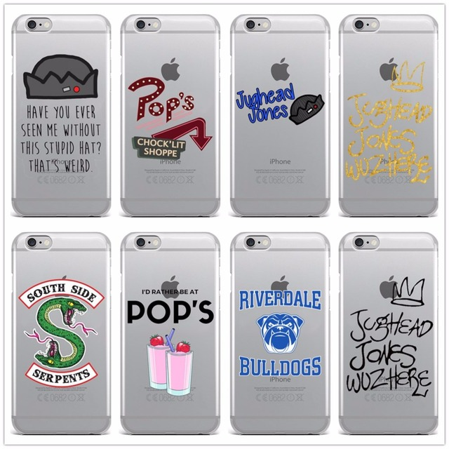 competitive price 303c8 1be57 US $0.96 29% OFF|Hot TV Riverdale Soft Clear TPU Phone Case For iPhone X 8  7 6 6S Plus SE 5 5S Silicone Phone Back Cover For iPhone 8 Cases Coque-in  ...