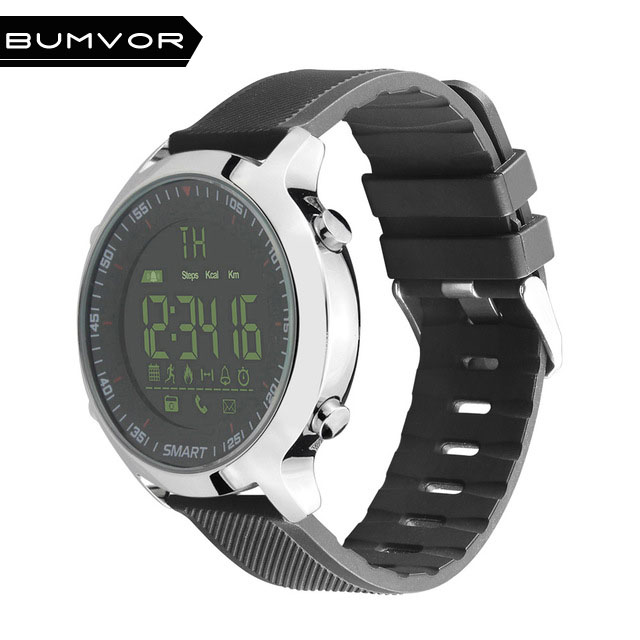 BINZI EX18 Waterproof Wrist Smart Watch Support Call and SMS alert Sports Activities Tracker Bluetooth Wristwatch makibes ex18 smart watch silver