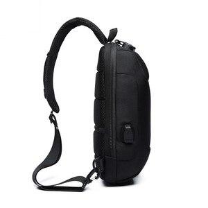 Image 3 - OZUKO 2020 nouveau sac à bandoulière multifonction pour hommes Anti vol épaule sacs de messager mâle étanche court voyage poitrine sac Pack