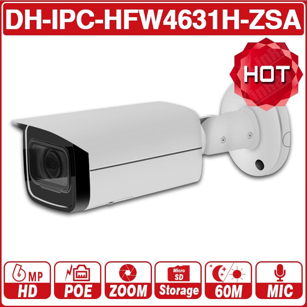 DH IPC-HFW4631H-ZSA 6MP 5X IP Camera 2.7 ~ 13.5 milímetros Zoom Atualizar a partir de IPC-HFW4431R-Z Microfone Embutido Slot Para Cartão SD PoE câmera com o logotipo