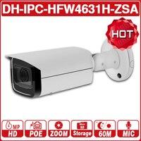 DH IPC-HFW4631H-ZSA 6MP IP カメラ 2.7 〜 13.5 ミリメートル 5X ズーム IPC-HFW4431R-Z からアップグレード内蔵マイク SD カードスロット PoE カメラとロゴ
