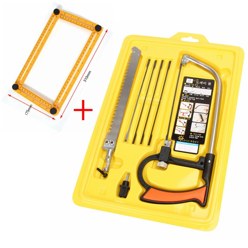 8 in 1 Multifunction Magic Saw Hacksaw DIY Hand Steel Saw for Metal Woodworking Mini Saw Kit with 6 Blades Model Hobby Tool image