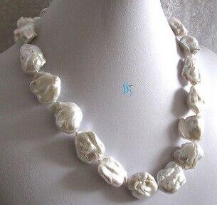 Jewelr 005941 белый ding мидии ядерной пресной воды Жемчужное ожерелье