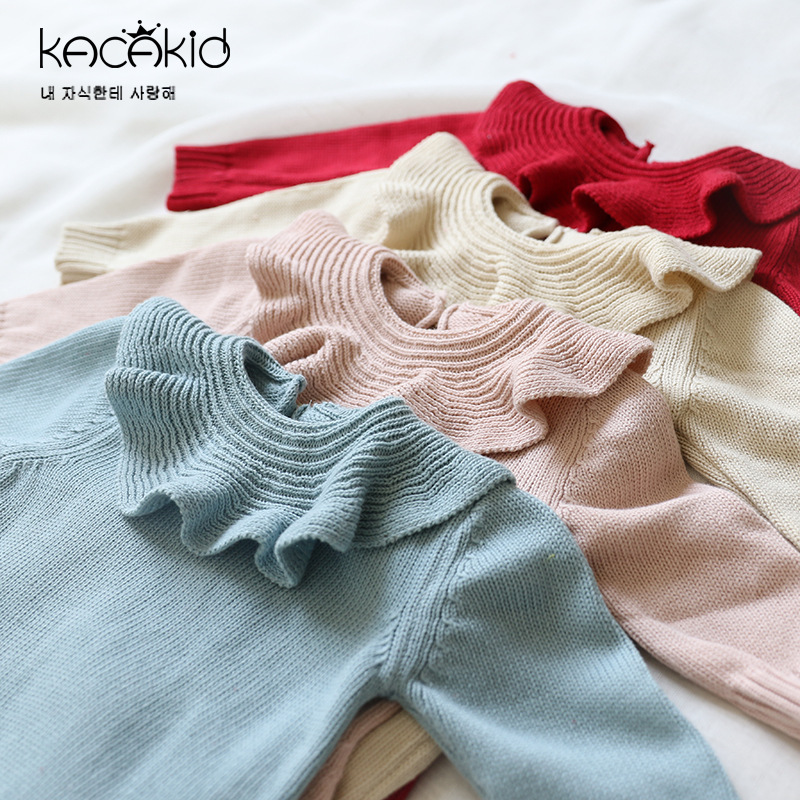 Fashion Baby   Romper   Newborn Baby Clothes Kids Girls Boys Long Sleeves Lotus Turn Down Collar Jumpsuit Infant Knitted   Rompers