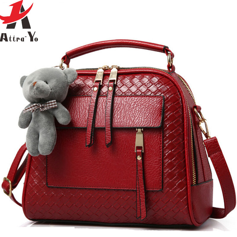 Atrra Yo Women Leather Handbag Luxury Handbags Brands Messenger Bags Las Shoulder Bag S Pouch Bolsa Ls8990ay In Top Handle From Luggage