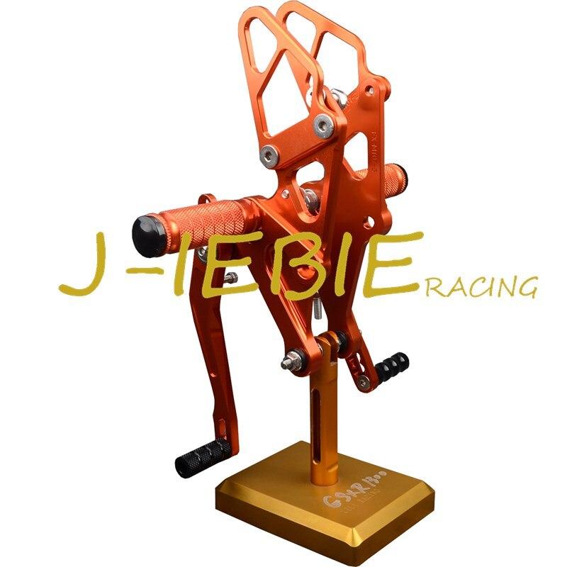 ЧПУ гонки Регулируемая Rearset задний устанавливает подножки, пригодный для YAMAHA FZ07 MT07 2014 2015 2016 оранжевый