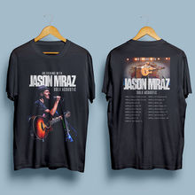 New 2018 Fashion Summer MenS Casual Crew Neck Short-Sleeve Jason Mraz Tour World Tee Shirts