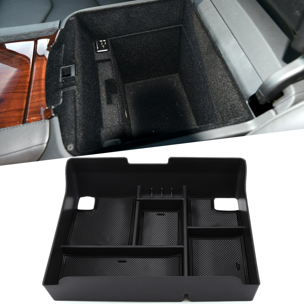 For cadillac escalade central armrest storage box container holder tray accessories car organizer car styling