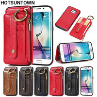 Leather Case For Funda Samsung Galaxy S6 Case Magnetic Flip Phone Covers Hoesje Samsung Galaxy S6