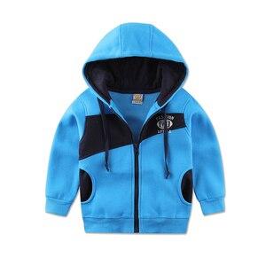 Image 5 - 2020 Little Q  hood zipper baby clothes set long sleeve fleece sweatshirt set male children sports outfits sweatshirt boys suits