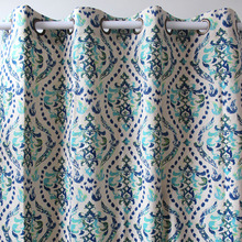 VEZO HOME print vintage flower pattern green finished window curtains panel door bedroom living room store home decor 51*98inch