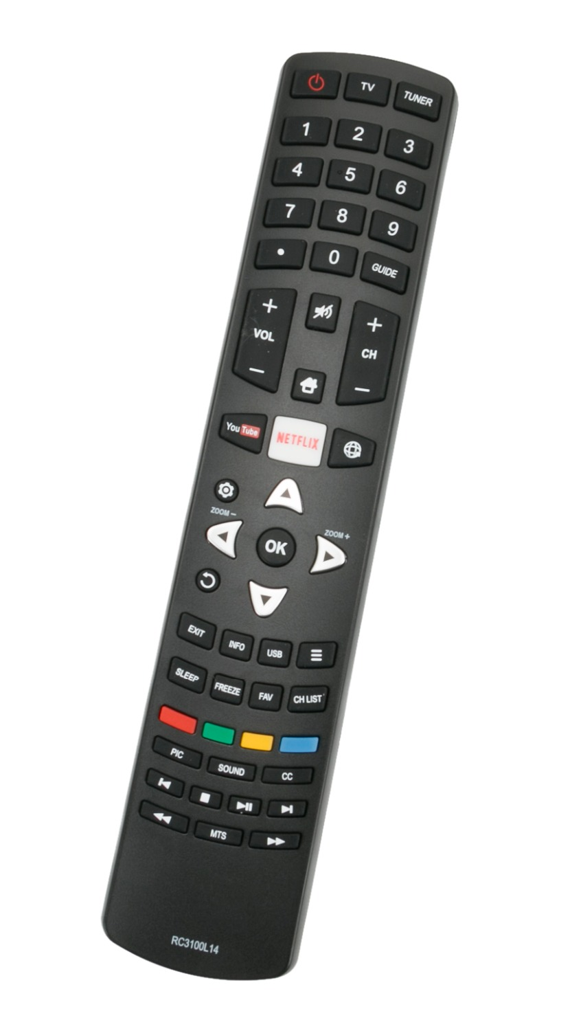 1pc Universal Replacement Remote Control Fit for RC3100L14 for TCL Smart 55 LED Full HD TV L55S4910I