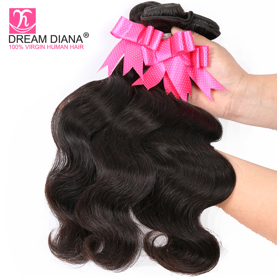Hot Sale Dreamdiana Burmese Hair Body Wave 3 Bundles Remy Hair Weave Bundles Natural Color 100% Human Hair Whole Sale Bundles Of Weave Refreshing And Beneficial To The Eyes Human Hair Weaves Hair Extensions & Wigs