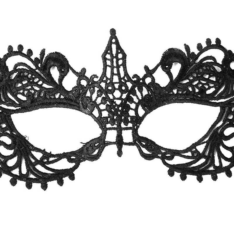 Zwarte Retro Sexy Kant Oogmasker Maskerade vermomming Accessoire