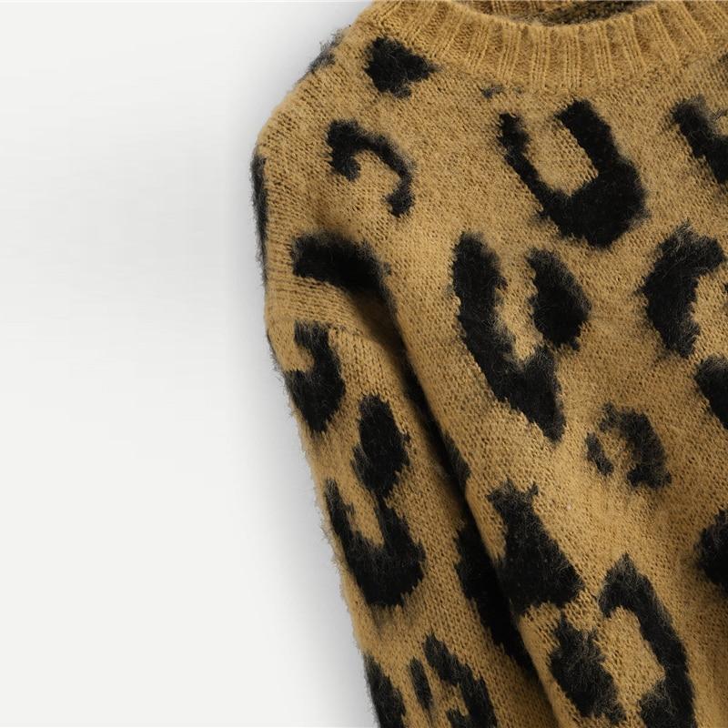 SHEIN Leopard Animal Print Sweater 2