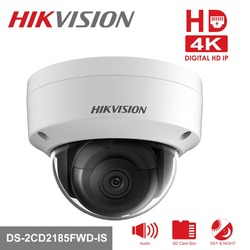 [In Stock] Origianl Hikvision H.265 CCTV Camera DS-2CD2185FWD-IS 8 Megapixesl Dome IP Camera Built-in SD Card Slot & Audio