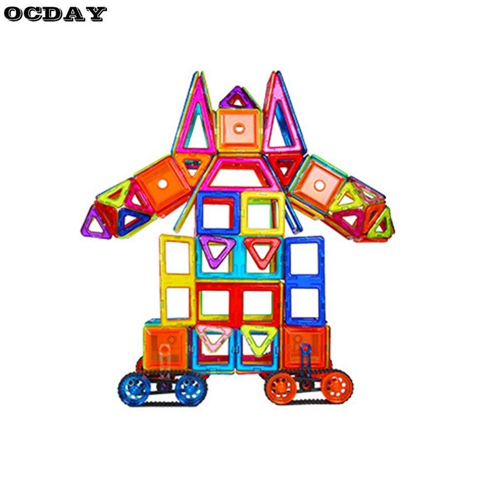 OCDAY 168/46/52/56/98 pièces ensemble de Construction de concepteur magnétique modèle et jouet de Construction blocs magnétiques en plastique jouets pour enfants cadeau