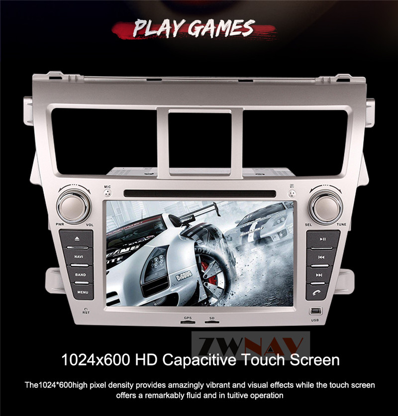 Flash Deal ZWNAV Android 8.0 Car Stereo Radio DVD Player GPS Navigation For TOYOTA Yaris Sedan 2006-2012 Vios 2007-2012 Belta 2005-2008 1