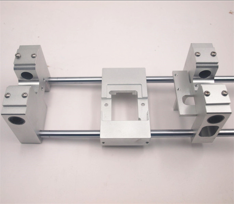 Aluminum X axis single Extruder Carriage RJ4JP-01-08 /8UU Y axis carriage kit For Replicator CTC Flashforge Upgrade