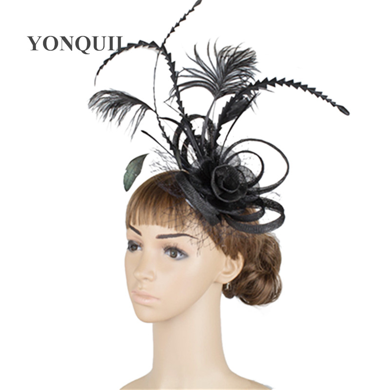 Feather Fascinator Hats Womens Wedding Party Hair Accessories Kentucky Derby Occasion Hats