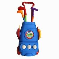 CRESTGOLF Multicolor Plastic Mini Golf Club Set Golf Toys For Children Kids Indoor Outdoor Backyard Sports