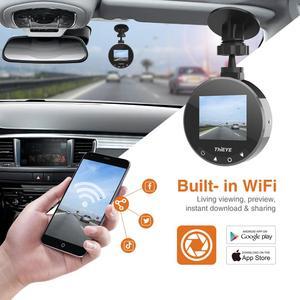 Image 3 - ThiEYE Safeel Zero + kamera na deskę rozdzielczą WiFi wideorejestrator samochodowy Real HD 1080P 170 szeroki kąt z trybem parkowania g sensor Car multi angle camera