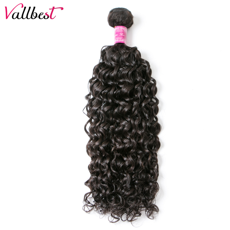 Vallbest Peruvian Water Wave 1 Bundle Human Hair Extensions 100g/Piece Natural Black 1B  ...
